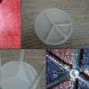 How to Make a Pizza Box Spacer Glittered Pendant