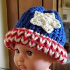 American Flag Loom Knit Hat Version 3