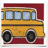 Back to School Card Beady Bus
