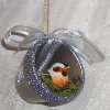 Birds Nest Clay Pot Christmas Ornament