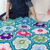 Bright Posies Crochet Throw