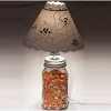 Candy Corn Jar Lamp