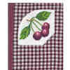 Cherries Cross Stitch Gingham Notebook Cover