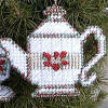 Christmas Tea Cross Stitch Ornament