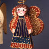 Colorful Christmas Angel 8 Days til Christmas: Favorite Angel Craft Project and a Giveaway