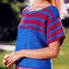 Striped Crochet Tee