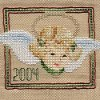 Cross Stitch Angel Ornament