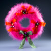 Fluffy Pink Feather Wreath