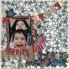 Independence Day Scrapbook Layout