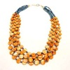 Multistrand Disc Bead Necklace and Earrings