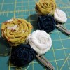 Scrap Fabric Rosette Barrette