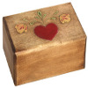 Woodcarving Heart and Flowers Box