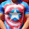 Captain America Tie Dye Tee