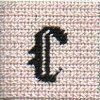 Letter C Needlepoint Stitch