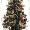 Christmas Tree with Pine Cones and Fabric