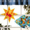 Colorful Tissue Paper Suncatchers