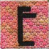 Letter E Needlepoint Stitch in Pink