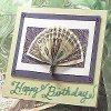 Paper Folding Fan Greeting Card