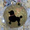 Poodle Dog Silhouette Ornament Balls