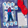 Snow Play Scrapbook Layout