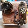 Steampunk Paperclay Book