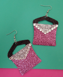 Glittery Purse Earrings