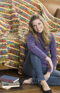 Crocheted Multicolored Throw