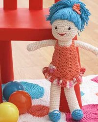 Crochet Doll Pattern Cute : Cute Crochet Doll FaveCrafts.com