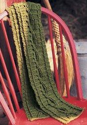 green starter scarf
