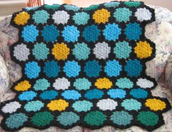 Stained Glass Shell Stitch Motif Afghan