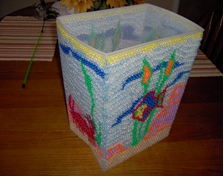 Beaded Bath Bucket