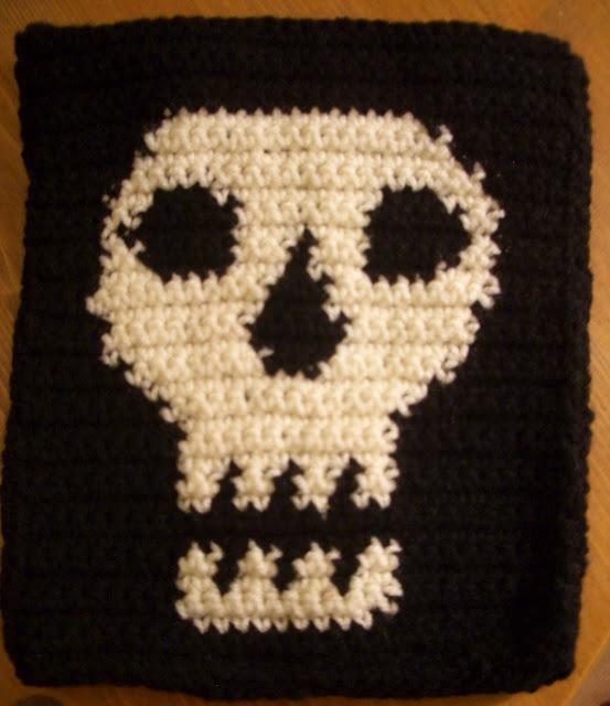 Crochet Skull Tablet Case FaveCrafts.com