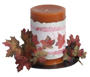 Autumn Leaves Paper Candle