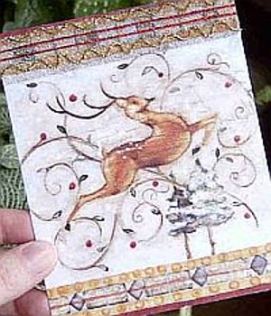 Beaded Reindeer Card