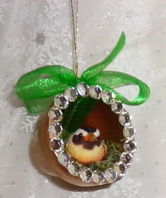 Bird Nest Clay Pot Christmas Ornament