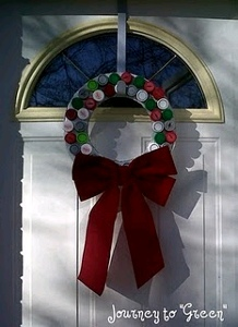 bottle cap wreath