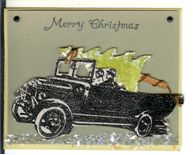 Bringing Home the Christmas Tree Card