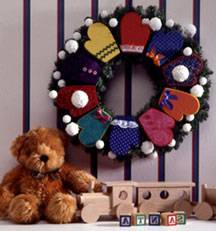 mittens wreath