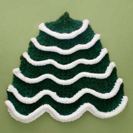 Christmas Tree Dishcloth