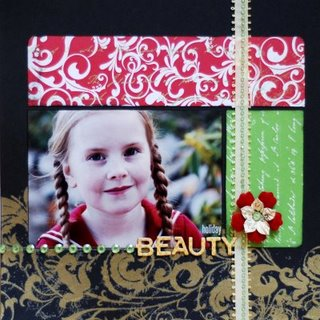 Christmas Beauty Scrapbook Page