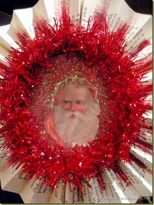 DIY Vintage Santa Ornament