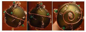 Elegant Emerald Ornaments