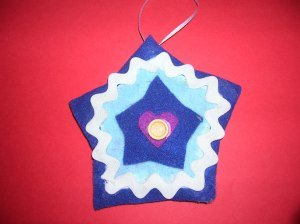 Felt Cookie Cutter Ornaments
