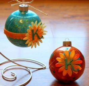 Flower Monogram Ornaments