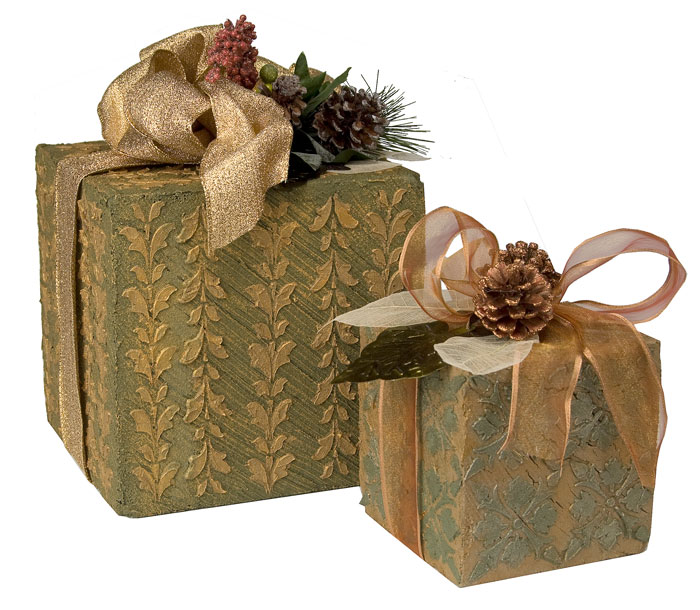 Textured Holiday Gift Boxes