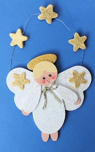 Gold Star Angel Ornament