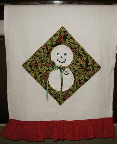 Holiday Snowman Towel