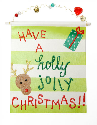 Holly Jolly Reindeer Christmas Sign