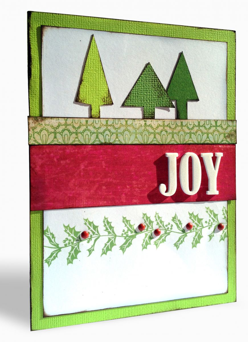joy holiday card