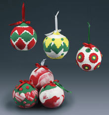 Molded Clay Christmas Ornaments